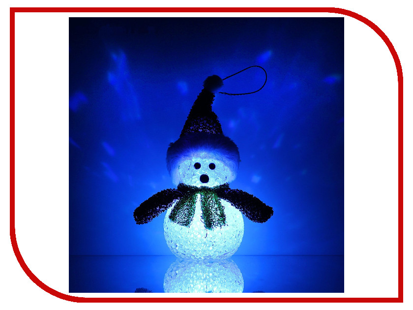 Новогодний сувенир Luazon Снеговик новогодний Red 1077491 новогодний сувенир luazon дед мороз под елкой 1353359