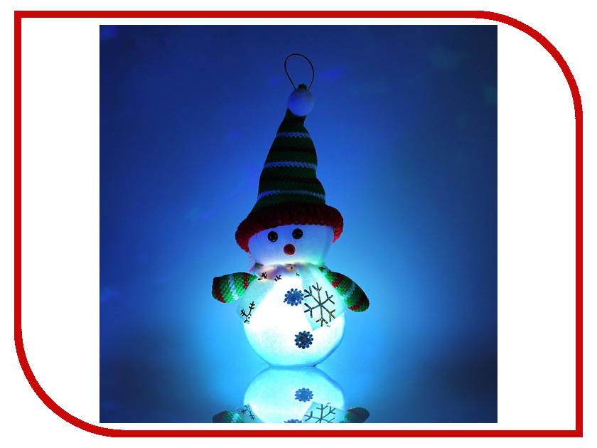 Украшение Luazon Снеговик с руками Green-Red 1077494 luazon lsk 1802 red