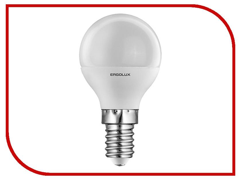 Лампочка Ergolux Шар LED-G45-7W-E14-4K 12144 лампочка ergolux свеча led c35 7w e14 4k 12135