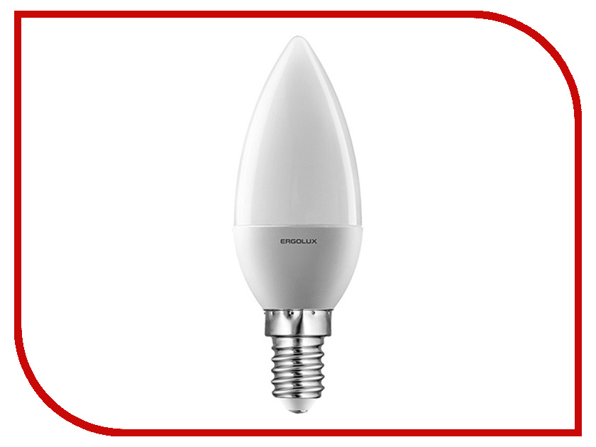 Лампочка Ergolux Свеча LED-C35-7W-E14-4K 12135 лампочка ergolux свеча led c35 7w e14 4k 12135