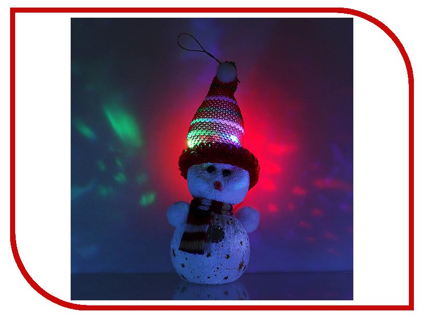 Новогодний сувенир Luazon Снеговик со звездочками в шапочке 603009