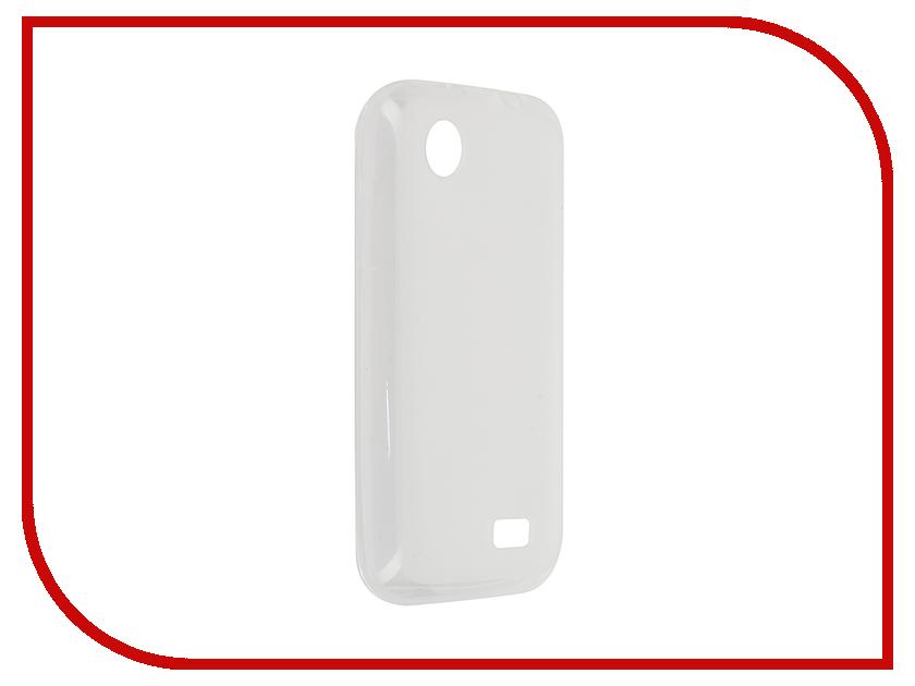 Аксессуар Чехол Lenovo A369 Activ Silicone White Mat 46846<br>