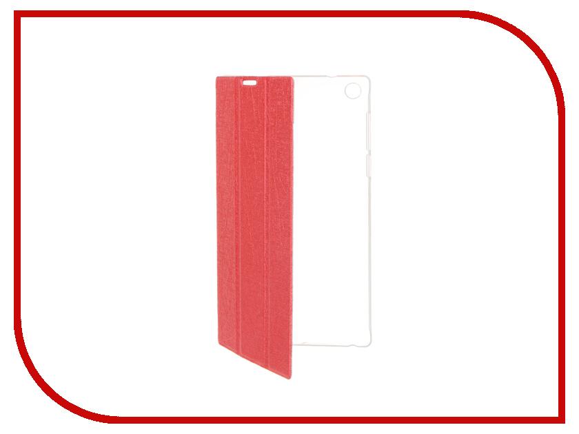 Аксессуар Чехол Lenovo Tab 2 A7-30 iBox Premium Red прозрачная задняя крышка<br>