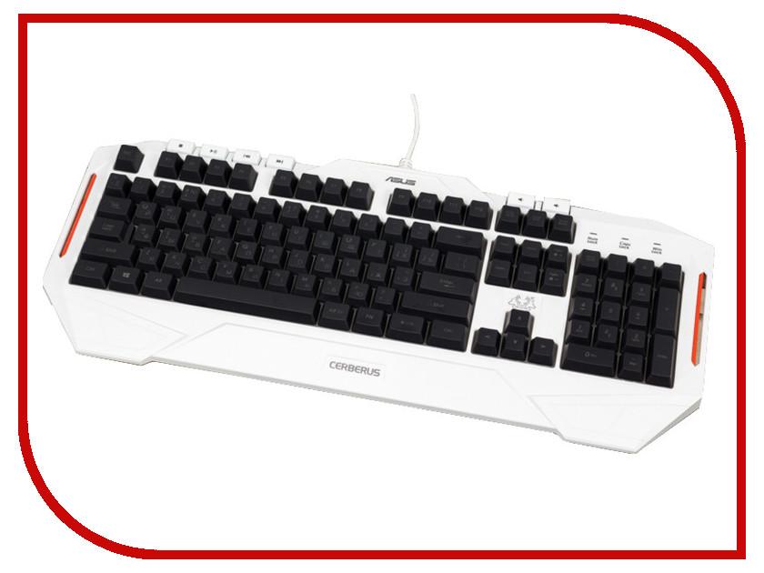 Клавиатура ASUS Cerberus Arctic 90YH00V1-B2RA00 клавиатура asus cerberus mech rgb black switch usb 2 0 черный [90yh0193 b2ra00]