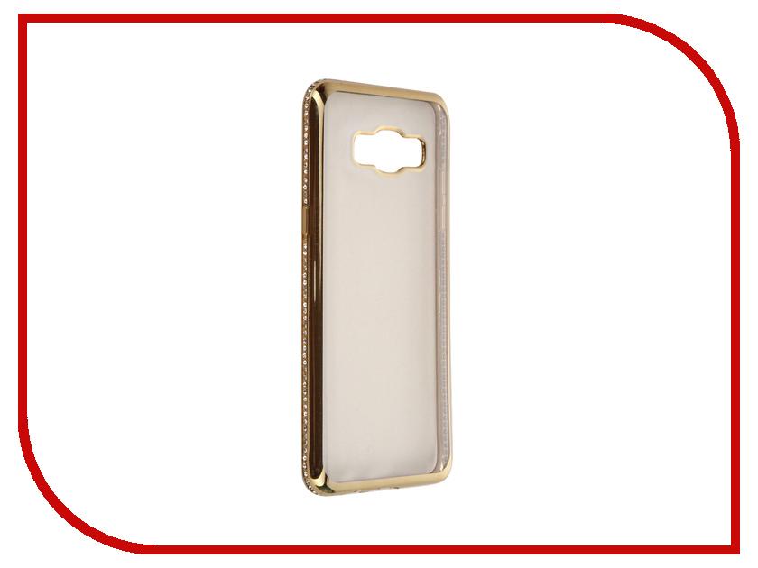 Аксессуар Чехол Samsung Galaxy J5 2016 AUZER Ultrathin со стразами 0.3mm Gold AC-SJ510FNBCGo<br>