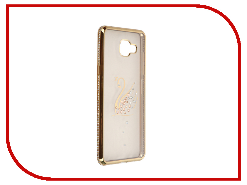 Аксессуар Чехол Samsung Galaxy A5 2016 AUZER Ultrathin со стразами 0.3mm Лебедь Gold AC-SGA510FBCSGo<br>