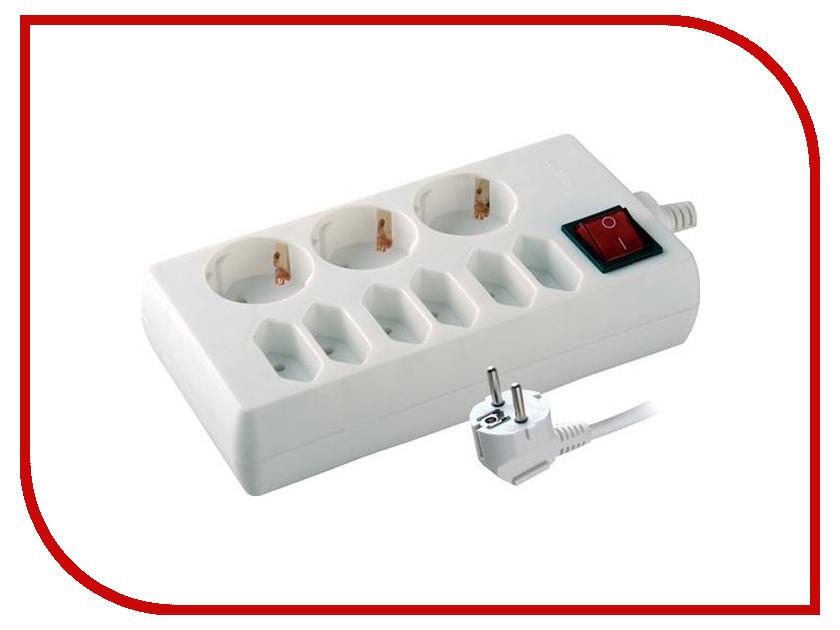 Сетевой фильтр Volsten S 9x3-ZV 9 Sockets 3m 9325 сетевой фильтр volsten s 4x5 9304