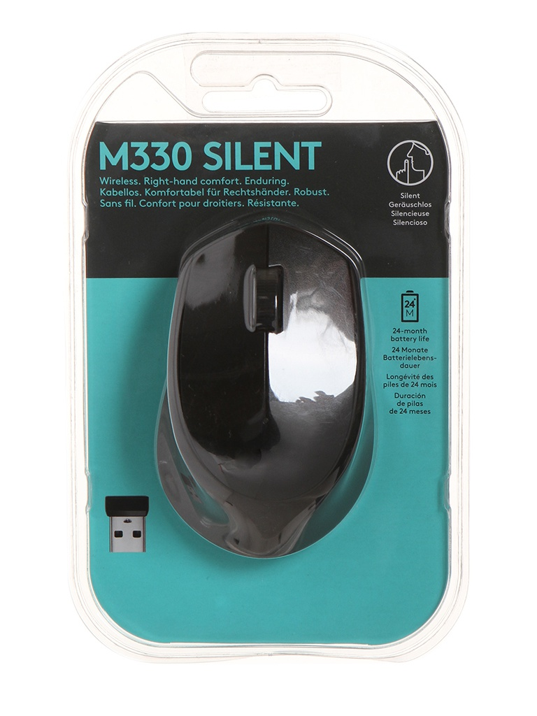 Мышь Logitech M330 Silent Plus Black 910-004909