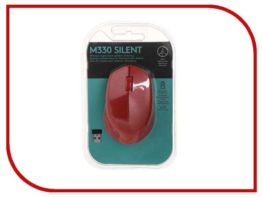 Мышь Logitech M330 Silent Plus Red 910-004911