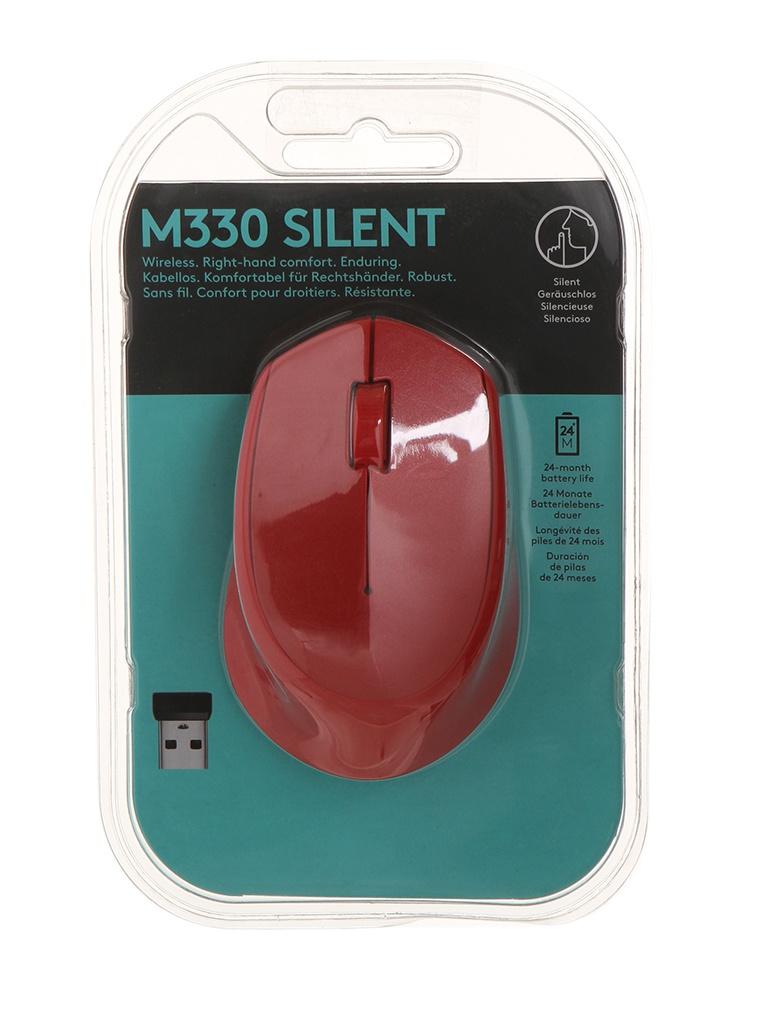лучшая цена Мышь Logitech M330 Silent Plus Red 910-004911