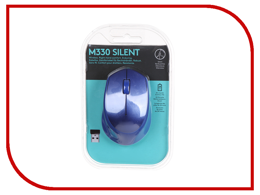 Мышь Logitech M330 Silent Plus Blue 910-004910