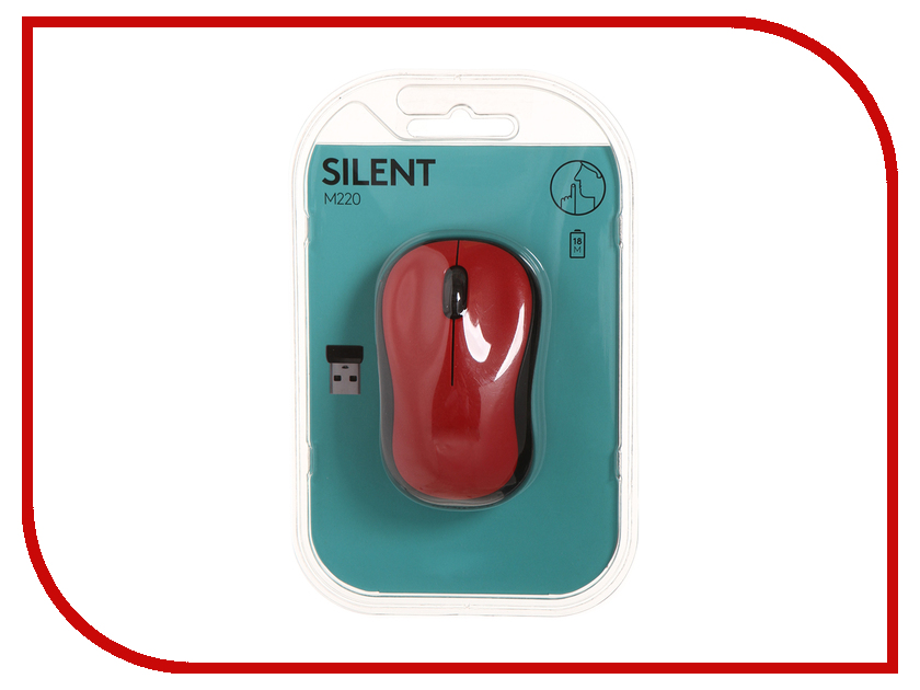 Мышь Logitech M220 Silent Red 910-004880 silent treatment