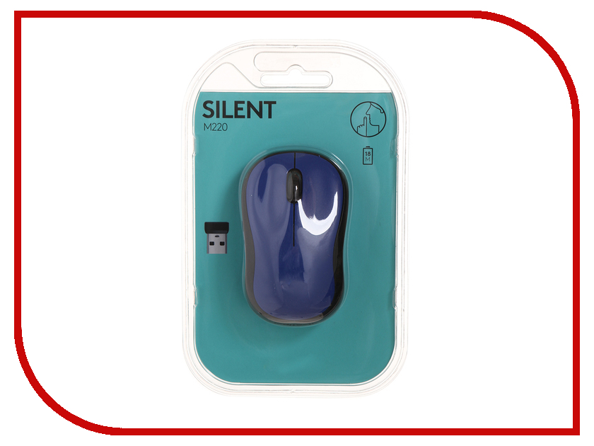 Мышь Logitech M220 Silent Blue 910-004879 silent treatment