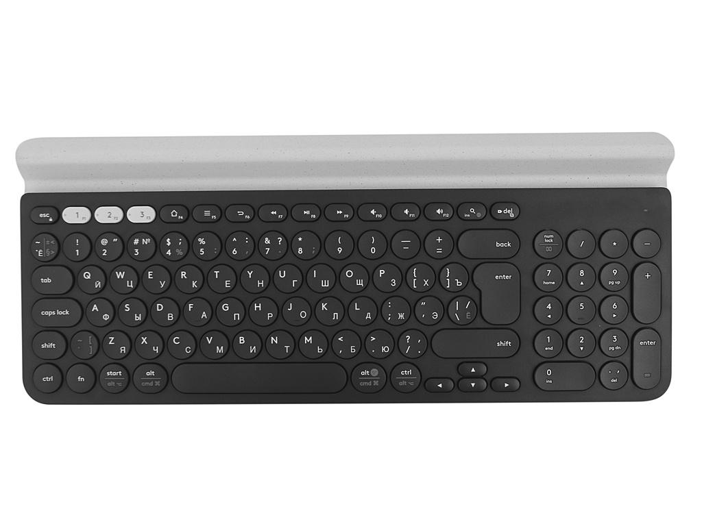 Клавиатура Logitech K780 Multi-Device Wireless Keyboard White 920-008043 клавиатура hp k5510 wireless keyboard white h4j89aa