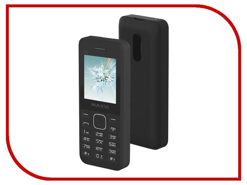 Сотовый телефон Maxvi C20 Black сотовый телефон maxvi c20 blue