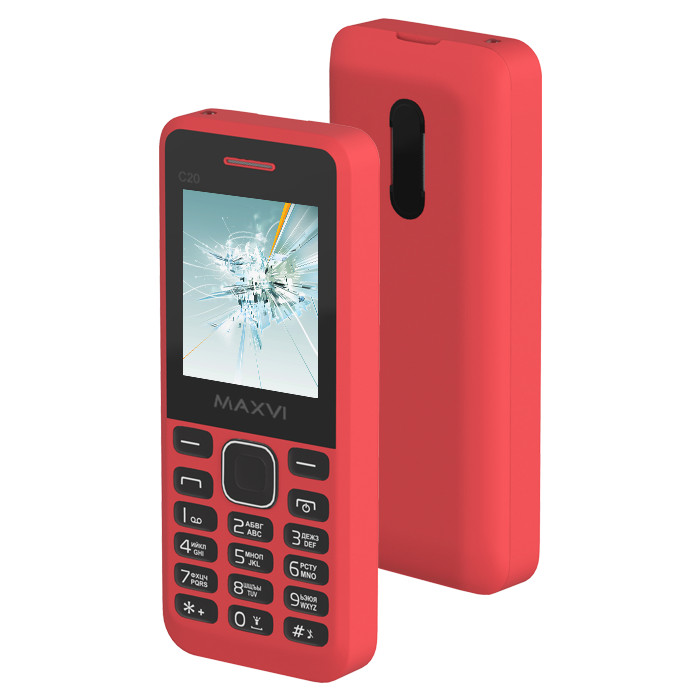 Сотовый телефон Maxvi C20 Red сотовый телефон maxvi c17 white red