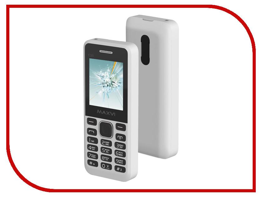 Сотовый телефон Maxvi C20 White сотовый телефон maxvi c20 blue