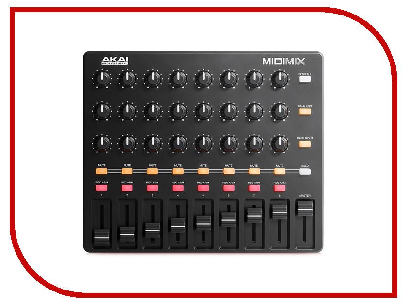 MIDI-контроллер AKAI pro Midimix midi контроллер akai pro mpd218