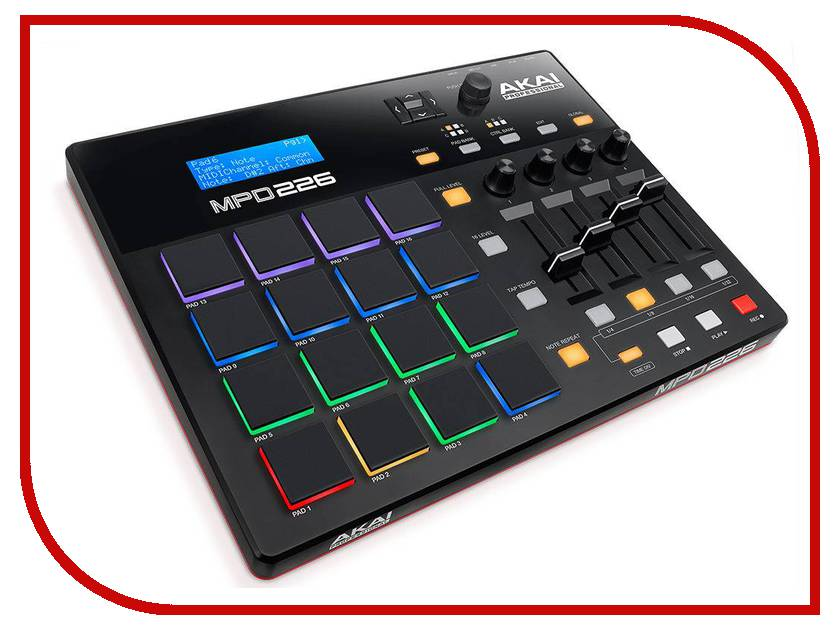 MIDI-контроллер AKAI pro MPD226 midi контроллер alesis sample pad