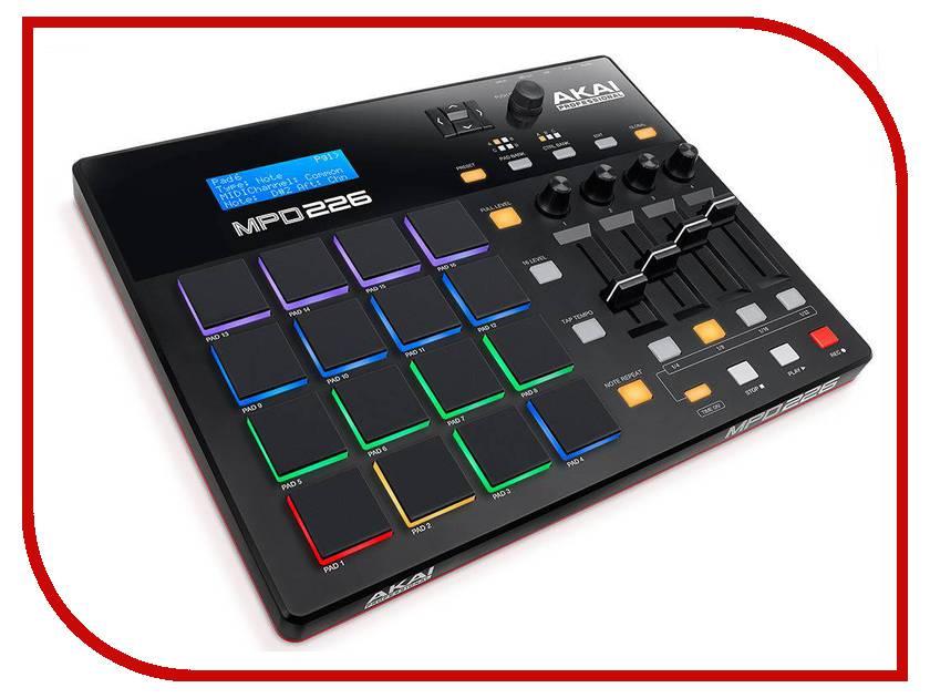 MIDI-контроллер AKAI pro MPD226 akai pro xr20
