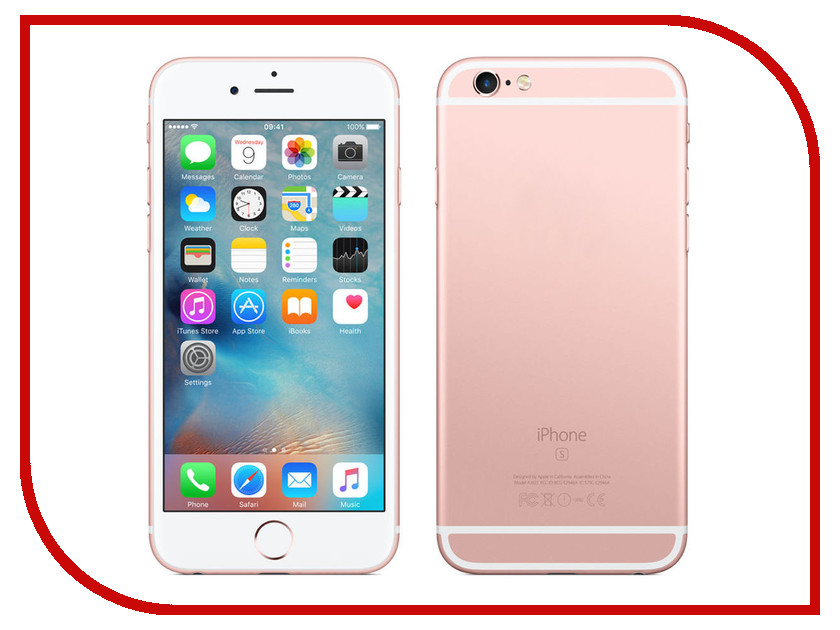 Сотовый телефон APPLE iPhone 6S - 32Gb Rose Gold MN122RU/A сотовый телефон apple iphone 6s 16gb rose gold fkqm2ru a восстановленный