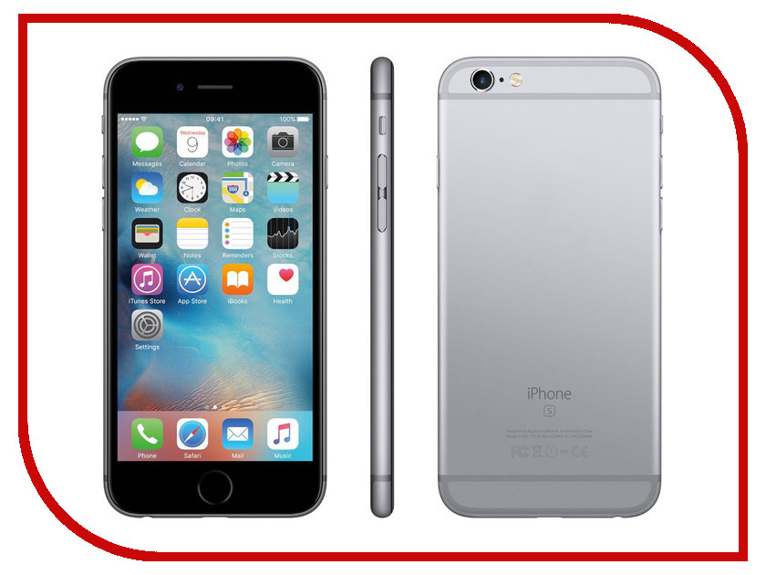 Сотовый телефон APPLE iPhone 6S - 32Gb Space Gray MN0W2RU/A сотовый телефон apple iphone 5s 16gb space gray ff352ru a восстановленный