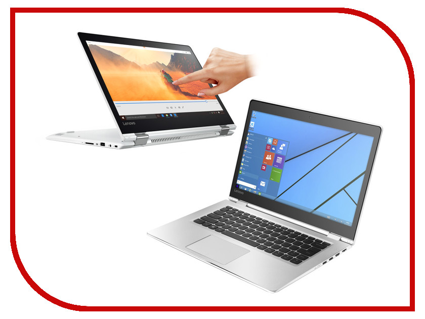 Ноутбук Lenovo IdeaPad Yoga 510-14ISK 80S7005BRK Intel Core i7-6500U 2.5 GHz/8192Mb/1000Gb/No ODD/Intel HD Graphics 520/Wi-Fi/Bluetooth/Cam/14.0/1920x1080/Windows 10 Home 64-bit<br>