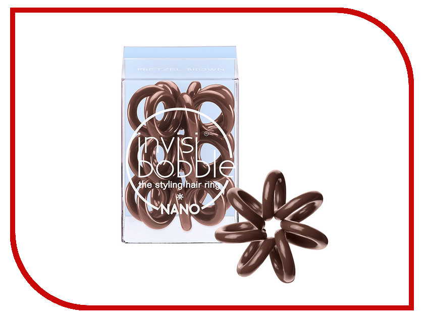 Резинка для волос Invisibobble Nano Pretzel Brown 3 штуки