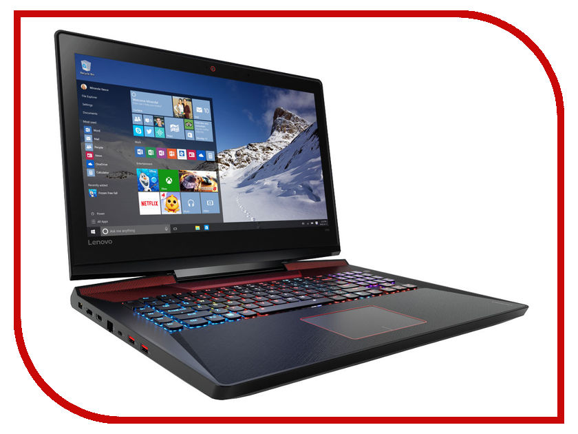 Ноутбук Lenovo IdeaPad Y900-17ISK 80Q1001HRK (Intel Core i7-6700HQ 2.6 GHz/8192Mb/1000Gb + 128Gb SSD/No ODD/nVidia GeForce GTX 980M 4096Mb/Wi-Fi/Bluetooth/Cam/17.3/1920x1080/Windows 10) oem 100% lenovo 900 fp lcdk900