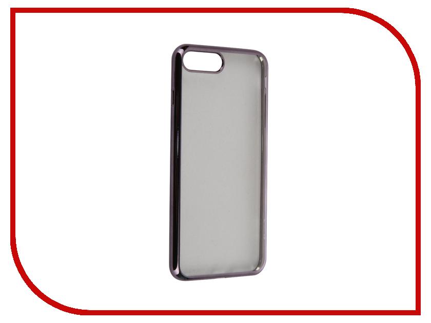 Аксессуар Чехол Celly Laser для APPLE iPhone 7 Plus Transparent-Dark Grey LASER801DS<br>