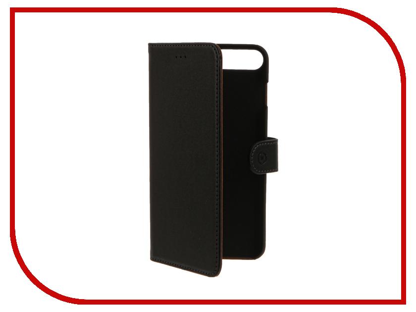Аксессуар Чехол Celly Wally Case для APPLE iPhone 7 Plus Black WALLY801<br>