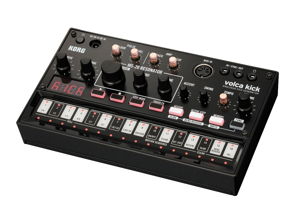 Синтезатор KORG Volca Kick korg volca bass analog bass machine electribe inspired sequencer for the ultimate bass lines