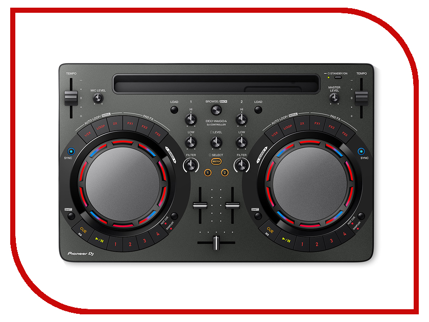 Dj контроллер Pioneer DDJ-WeGO4 Black pioneer ddj wego4 w