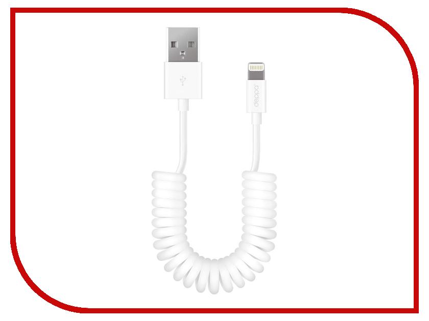 Аксессуар Deppa 8-pin для iPhone 2m White 72225<br>