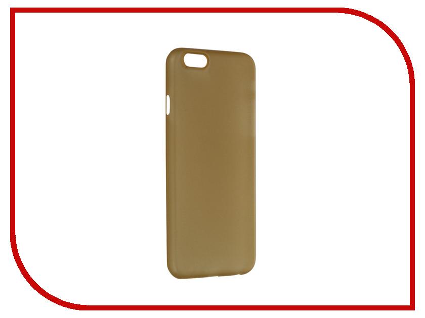Аксессуар Чехол Deppa SkyCase для iPhone 6 Gold + защитная пленка 0.4mm 86016<br>