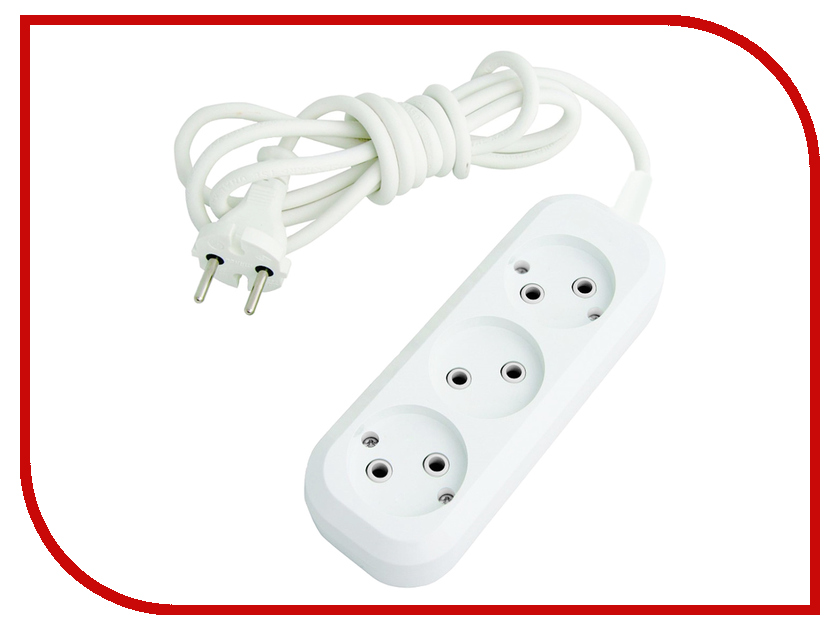 Сетевой фильтр Rexant Optima 3 Sockets 3m White 11-2263<br>