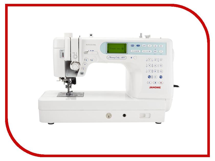 Швейная машинка Janome Memory Craft 6600P janome horizon memory craft 8200 qc