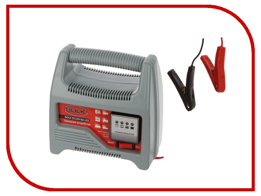 Зарядное устройство для автомобильных аккумуляторов BOLK BC12V-6A LED BK34010<br>