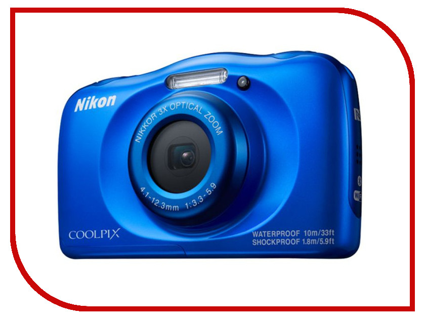 Фотоаппарат Nikon Coolpix W100 Blue