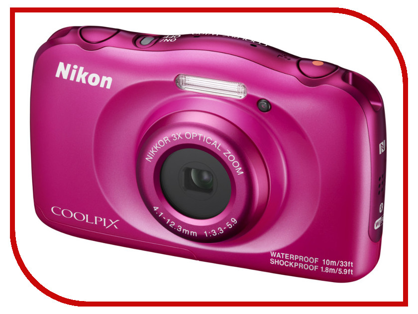 Фотоаппарат Nikon Coolpix W100 Pink фотоаппарат nikon s7000 coolpix white