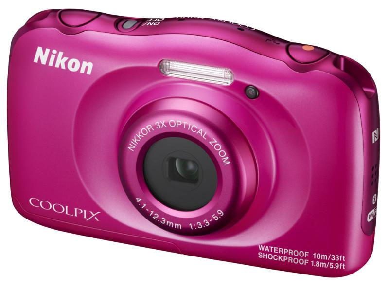 лучшая цена Фотоаппарат Nikon Coolpix W100 Pink