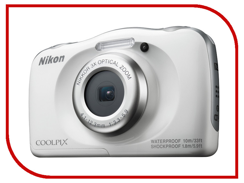Фотоаппарат Nikon Coolpix W100 White nikon coolpix p900 black цифровая фотокамера