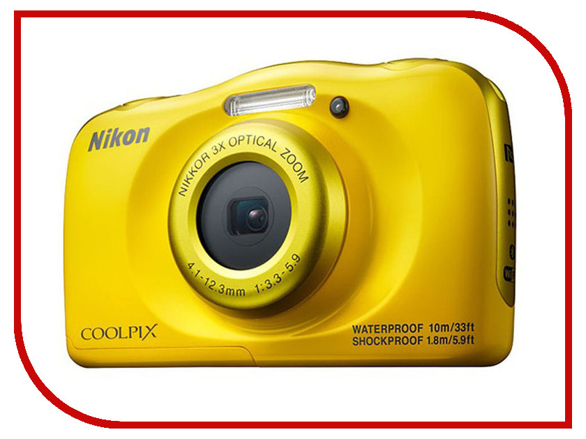 Фотоаппарат Nikon Coolpix W100 Yellow grid crop cami top