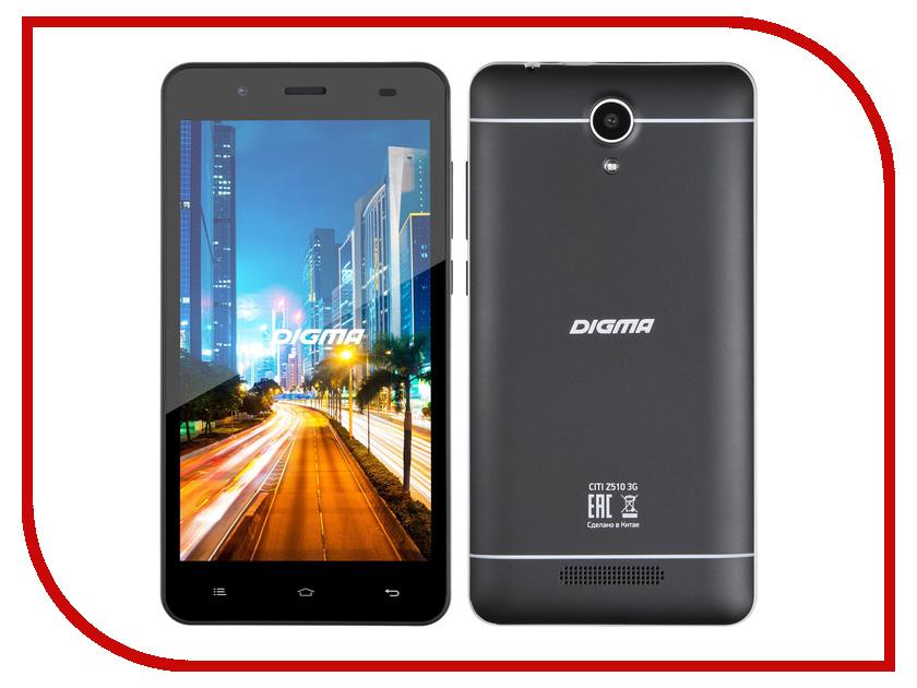 Сотовый телефон Digma CITI Z510 3G Black<br>