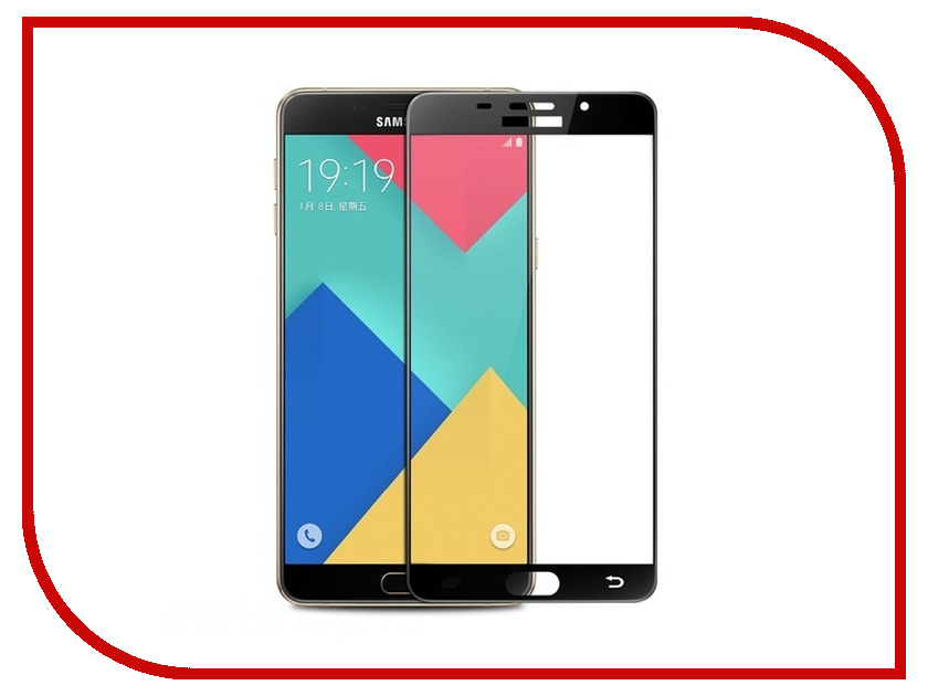 Аксессуар Защитное стекло Samsung Galaxy A5 2016 Onext с рамкой Black 41090 аксессуар защитное стекло samsung galaxy a5 2016 sm a510f solomon ultra glass
