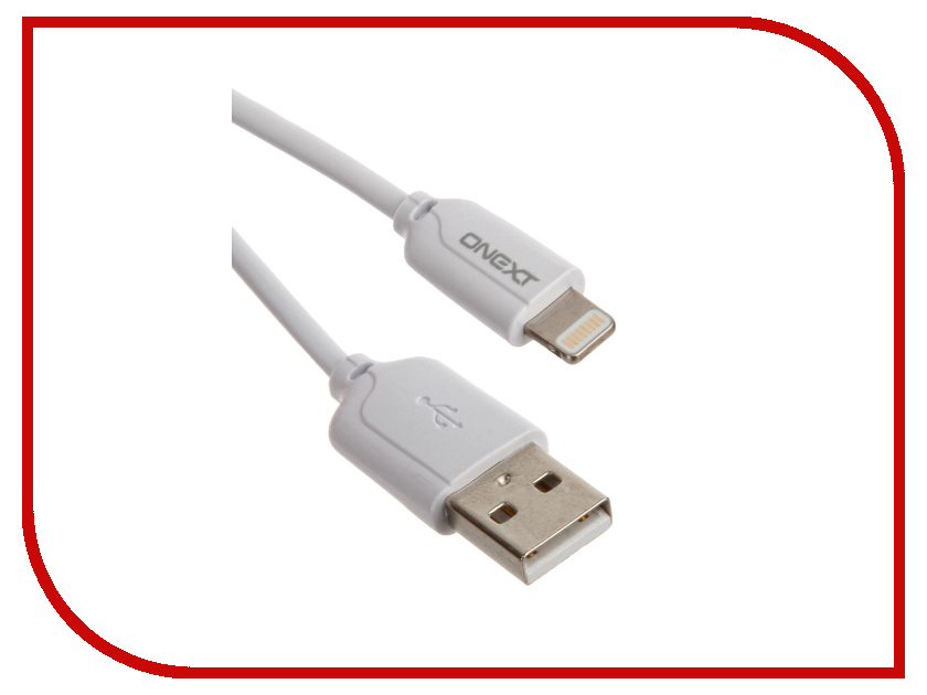 Аксессуар Onext USB to APPLE Lightning 8pin 1m White 60215 prolink pb341 green usb кабель apple lightning 1 м