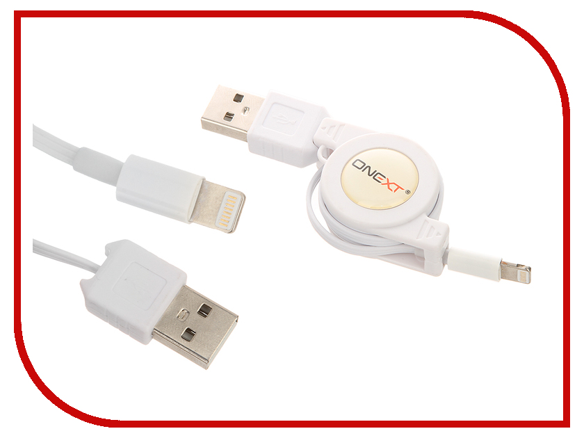 Аксессуар Onext USB to APPLE Lightning 8pin White 60218 prolink pb341 green usb кабель apple lightning 1 м