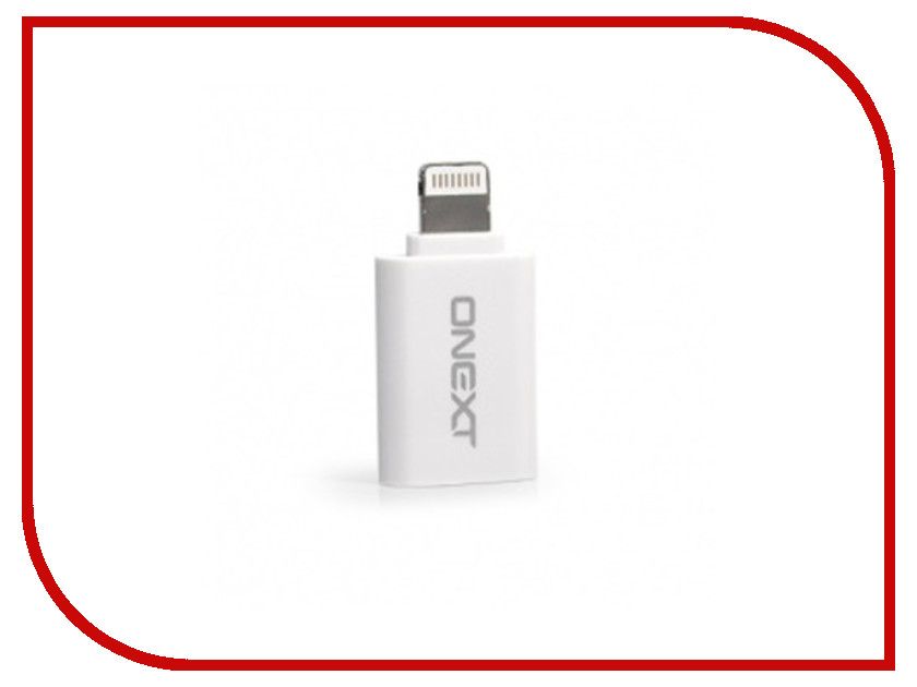 Аксессуар Onext microUSB to APPLE Lightning 8pin White 60216