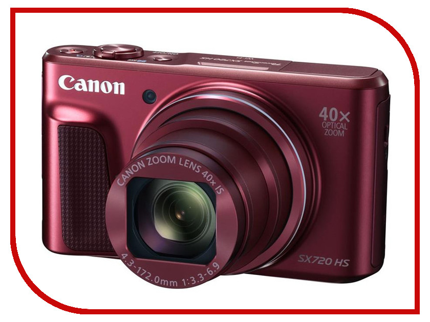 Фотоаппарат Canon PowerShot SX720 HS Red фотоаппарат canon powershot sx620 hs red