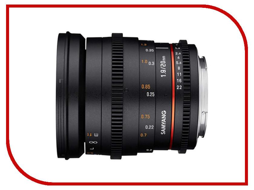 Объектив Samyang Nikon F 20 mm T1.9 ED AS UMC 09850 20